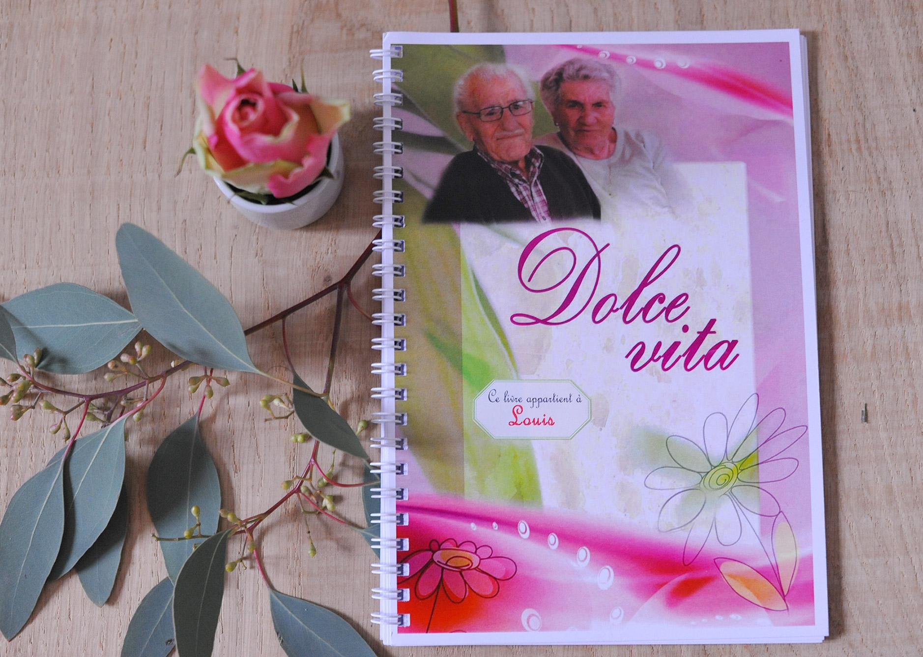 Livret A5 avec spirale - Dolce Vita - 70 ans de mariage
