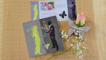 Faire-part de mariage Papillon